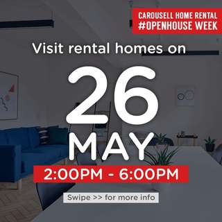 ⏰Sat 26 May 2pm to 6pm : Visit these 🏡homes for rent!  #OpenHouse Week