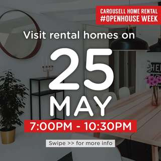 ⏰Fri 25 May 7pm to 10.30pm : Visit these 🏡homes for rent!  #OpenHouse Week