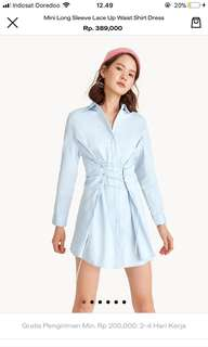 Pomelo shirt dress