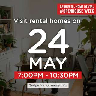 ⏰Thurs 24 May 7pm to 10.30pm : Visit these 🏡homes for rent!  #OpenHouse Week