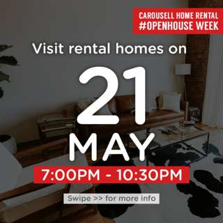 ⏰Mon 21 May 7pm to 10.30pm : Visit these 🏡homes for rent!  #OpenHouse Week