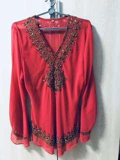 BRAND NEW PINK BEADED BLOUSE