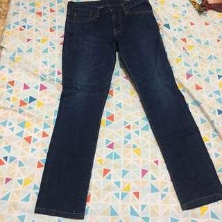 uniqlo slim fit straight cut jeans