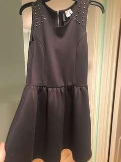 Studded grey skater dress