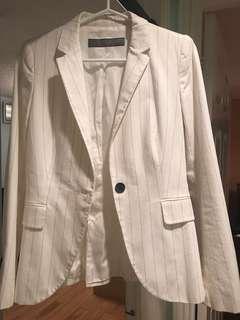 ZARA Black and white striped blazer