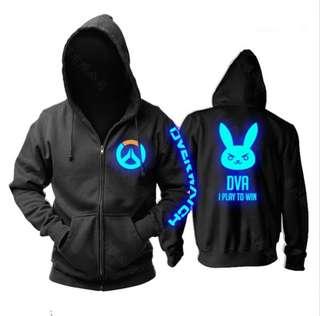 Overwatch LED casual hoodie jacket