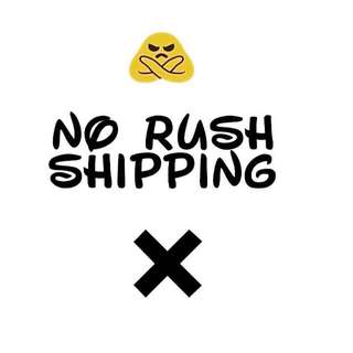 ❌NO RUSH SHIPPING❌