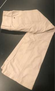 Flared cream pants