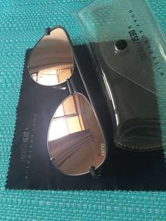 Quay rose gold gunmetal grey sunglasses