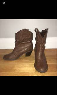 Brown booties size 9