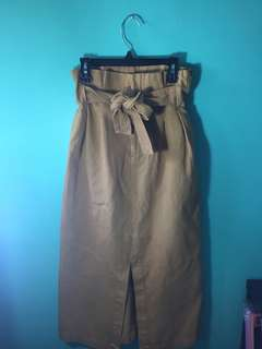 Long Tie Up Skirt