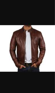 Men's fashion lather jacket delivery to home 100% originally