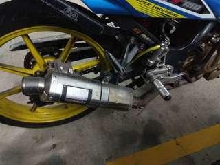 Yoshimura full-system exhaust suzuki belang R150
