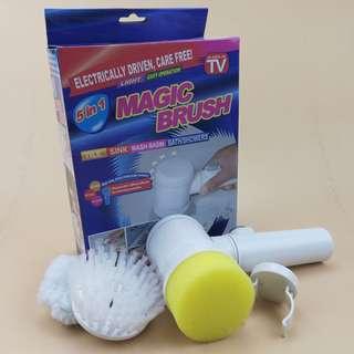 【現貨 🚿電動清潔刷Magic Brush 浴盆刷家務5合1浴缸刷 / 洗車神器🚿】