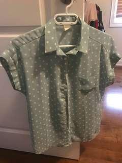 Chiffon mint blouse