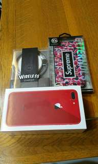 IPhone 8 plus 64gb red bnib with remax wireless charger