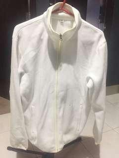 Uniqlo White Bomber Jacket (Large)