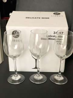 Wine Glass Gelas Wine Merk Libbey 6Pieces 350ml