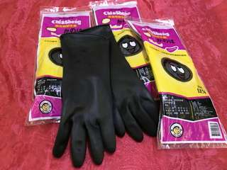 全新 現貨4雙 手套 可放10年 台灣製 乳膠手套 園藝 size.9X14