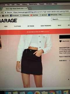 garage denim mini skirt