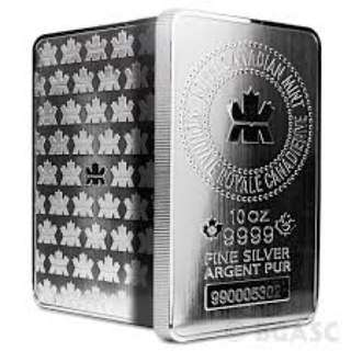 Royal Canadian Mint 10 oz 999 silver