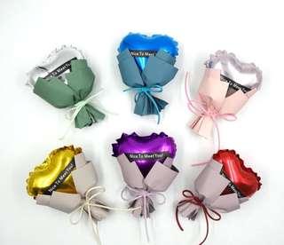 Heart Foil Balloon stalk bouquet