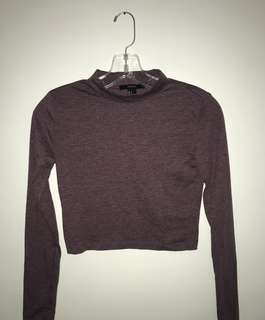 Crop mock neck long sleeve Size Small