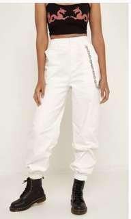 white I am gia cobain pants with chain