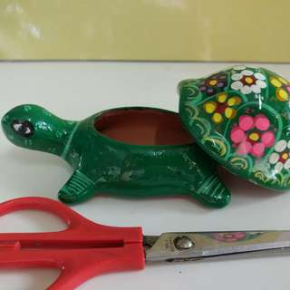 陶土龜造型首飾盒