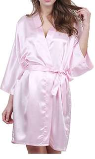 PRICE DROP: Pink Silk Robe