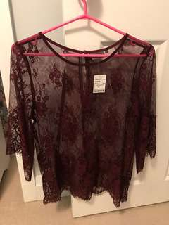 M boutique BNWT lace shell