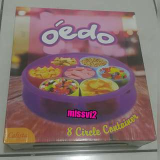 Toples Calista Odeo 8 Circle Container Warna Ungu
