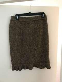 Club Monaco dark beige skirt, size 0
