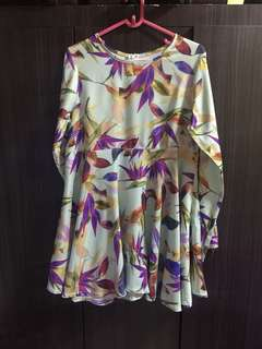 JAZZY JUNE'18 SALE-BRIGHT FLORAL BABYDOLL BLOUSE