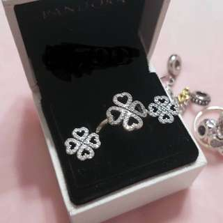 Preloved Pandora earrings & ring set