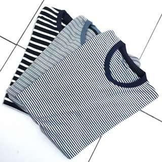 Kaos Stripe size M & L (new)