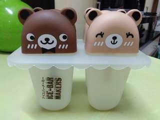 Cute bear popsicle maker