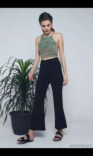 Hollyhoque Black Flare Pants