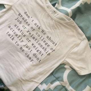 White Graphic Tee Shirt