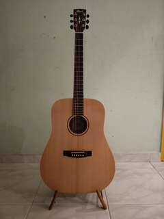 Cort Guitar w/bag model: Earth Grand OP (Solid Top)