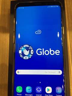 Samsung Galaxy S9 Plus 64Gigs Coral Blue Globe NTC Complete Box Unused Accessories BNew