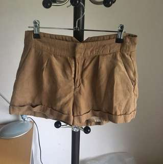 Bardot suede Tan shorts