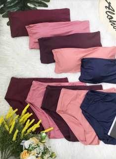 Bandeau swimwear (Pink)