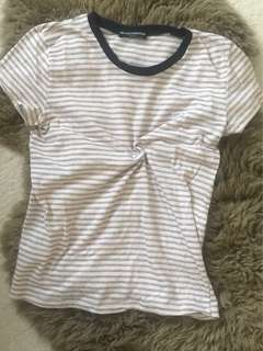 Brandy Melville soft striped tee