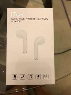 🚚 i7 TWS 白色無線耳機