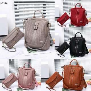 Ransel Marc Jacobs Squarely Multy Fungsi Set 2in1 Kode H712