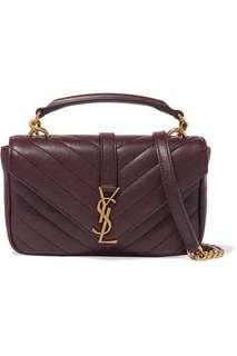 Authentic Saint Laurent Baby College Bag