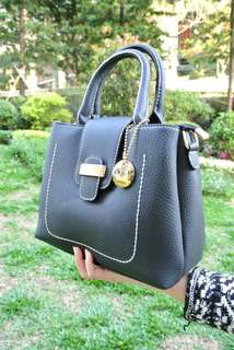代理T.U. Handbag Korea Style Black OL  韓系 女裝 手袋 女包 時尚 黑色 輕便易襯 203