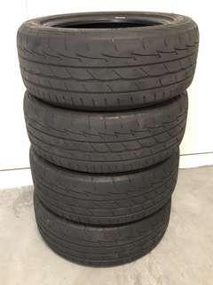225/55/17 Bridgestone Potenza tyres