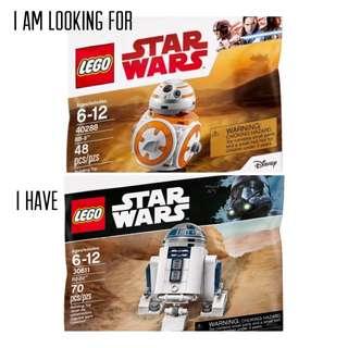 WTT LEGO 40288 BB-8 with 30611 R2-D2